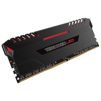 Corsair Vengeance 16GB LED (2x8GB) DDR4 2666MHz RED
