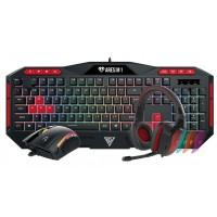 Gamdias Poseidon M1 Combo ARES M1 Gaming Keyboard + Zeus E2 Optical Gaming Mouse + Eros E1 Stereo Gaming Headset Black