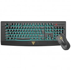 Gamdias GKC6001 Ares 7 Color Essential Membrane Gaming Keyboard + Erebos LE Optical Mouse Black