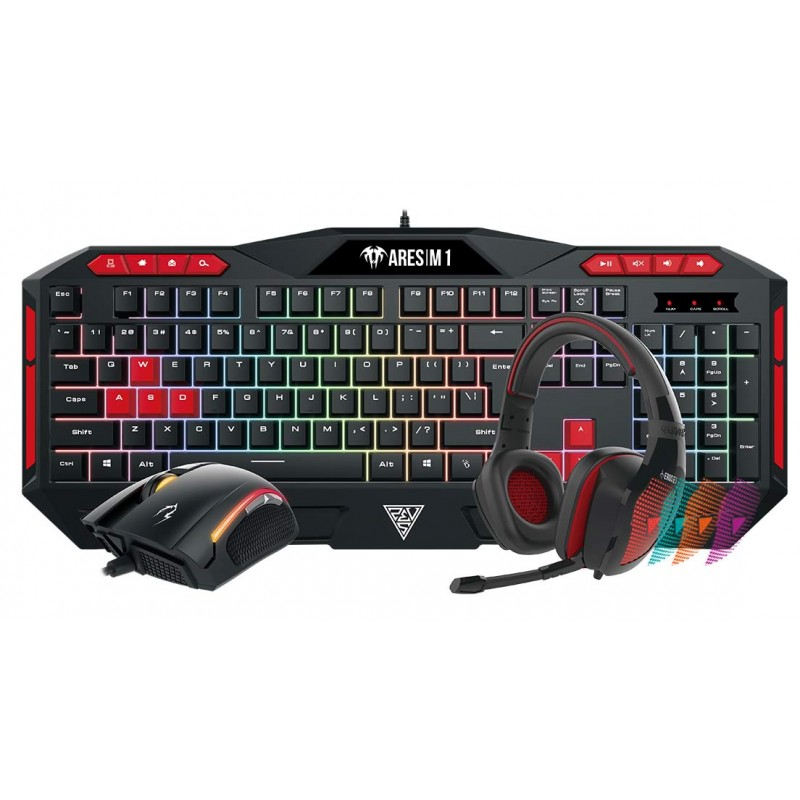 Gamdias Poseidon M1 Combo ARES M1 Gaming Keyboard + Zeus