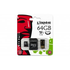 Kingston Multi Kit 64GB (Class 10 microSD + SD Adapter + USB Reader)