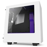 NZXT S340 White/Purple